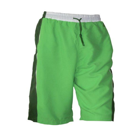 Beach short-zöld/sötétzöld-csíkkal