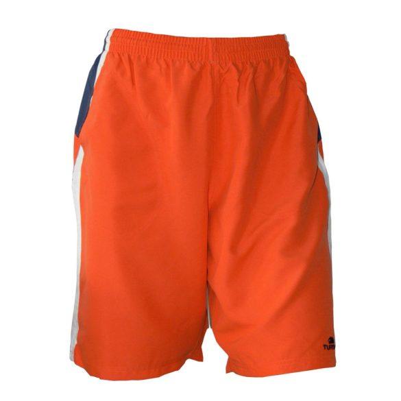 Beach short-piros/fehér/kék-oldaldísszel