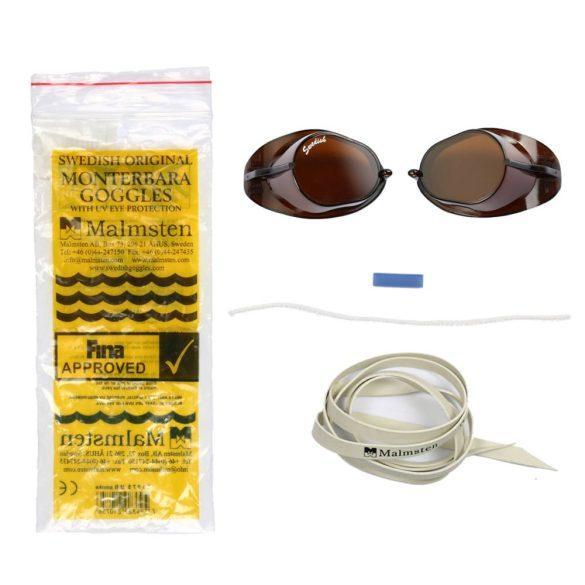 Eredeti Malmsten Svéd úszószemüveg-fekete