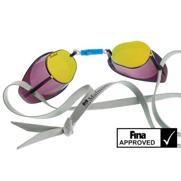 Eredeti Malmsten Svéd úszószemüveg-tükrös GOLD