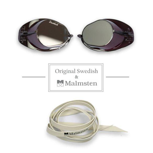 Eredeti Malmsten Svéd úszószemüveg-tükrös SILVER
