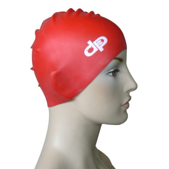 Szilikon úszósapka-DP-piros