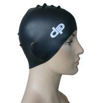Szilikon úszósapka-DP-fekete