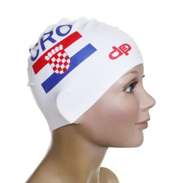 Szilikon úszósapka-Croatia Flag