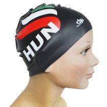 Szilikon úszósapka-HUN 1 design-fekete