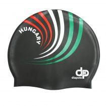 Szilikon úszósapka - HUN 3 design - Fekete