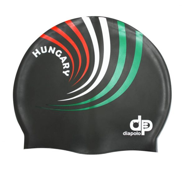 Szilikon úszósapka-HUN 3 design-fekete