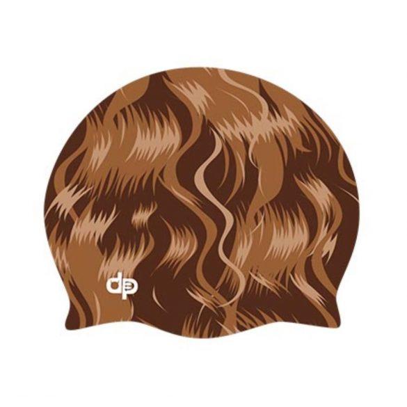 Szilikon úszósapka-Barna haj