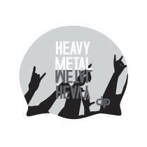 Szilikon úszósapka - heavy metal design - 1