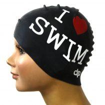 Szilikon úszósapka - I love swim