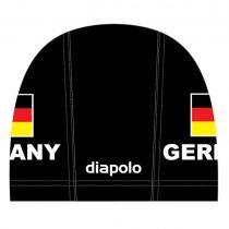Lycra úszósapka - Germany - 1 - fekete
