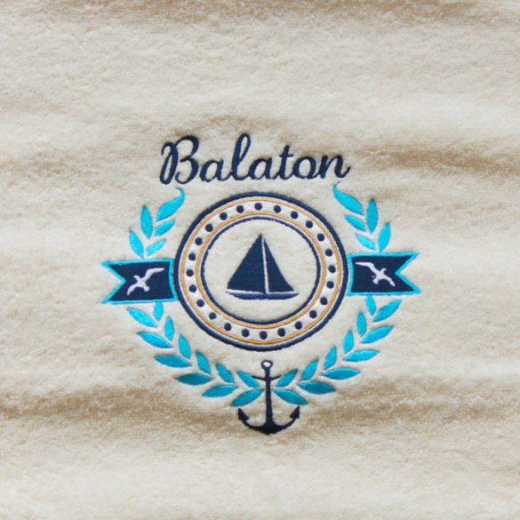 Törülköző-Balaton mintás (50x100)-bézs