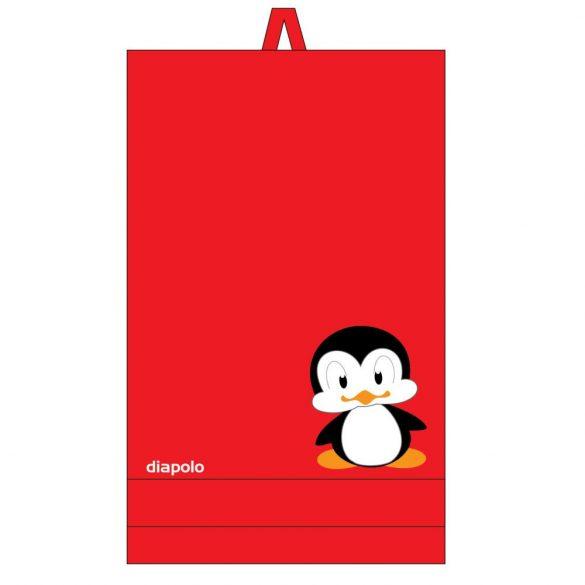 Törülköző-Pingvines (70x140 cm)-piros