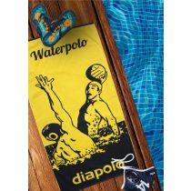 Szaunalepedő - Waterpolo - kék-sárga - 100 x 150 cm