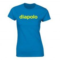 Női póló-diapolo-azúrkék