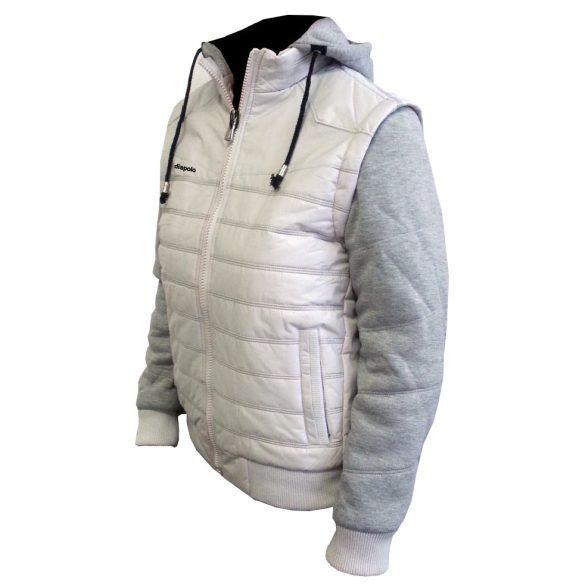 Kapucnis kabát-szürke