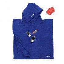 Poncho - asztronautás - kék