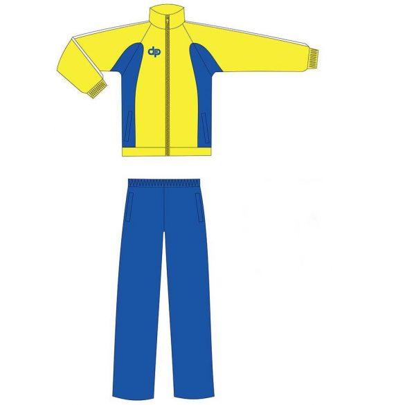 Kétrészes melegítő-mikroszálas-sárga/kék