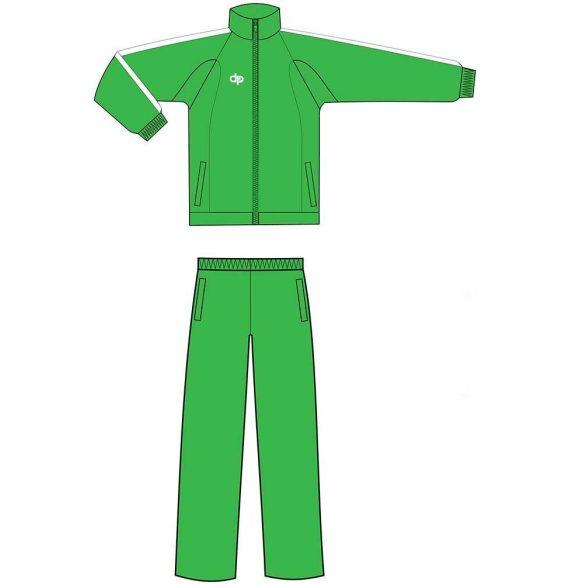 Kétrészes melegítő-mikroszálas-zöld