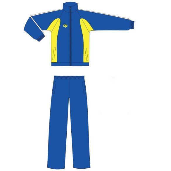 Kétrészes melegítő-mikroszálas-kék/sárga