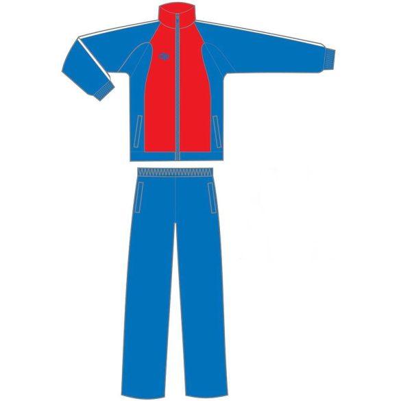 Kétrészes melegítő-mikroszálas-kék/piros