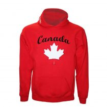Canada hímzett piros pulóver