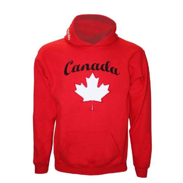 Pulóver-Canada-hímzett-piros