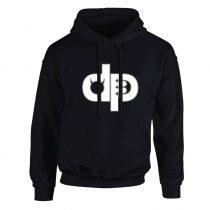 Pulóver - DP - hímzett - fekete