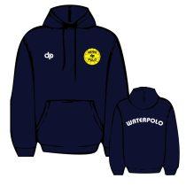 WP1 hímzett sötétkék pulóver