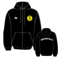 WP1 hímzett fekete cipzáras pulóver