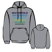 WP2 hímzett szürke pulóver