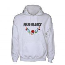 Hungary hímzett fehér pulóver