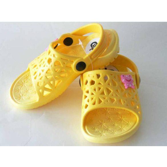 Kislány papucs-Cute-sárga