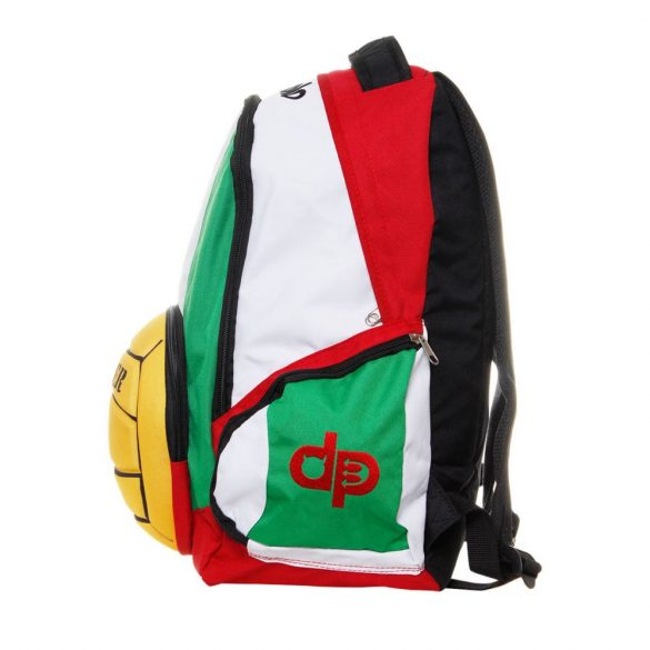 Vízilabdás hátizsák-piros/fehér/zöld