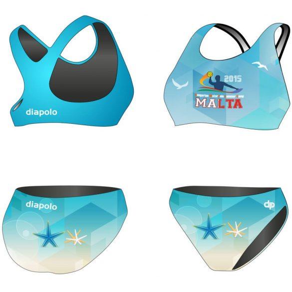 HWPSC-Női vastag pántos bikini-Malta sea star