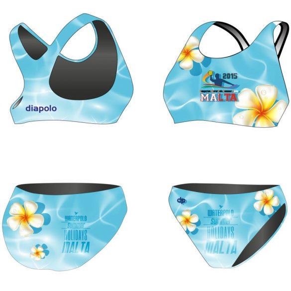 HWPSC-Női vastag pántos bikini-Malta Flowers