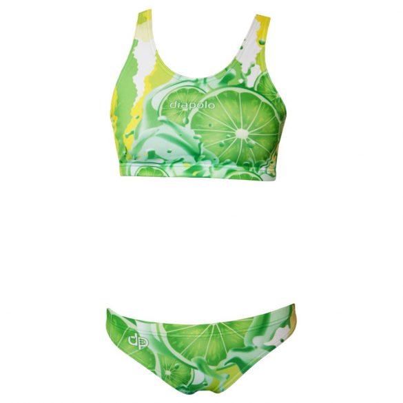Vastag pántos bikini felső - Lemon lime fruit