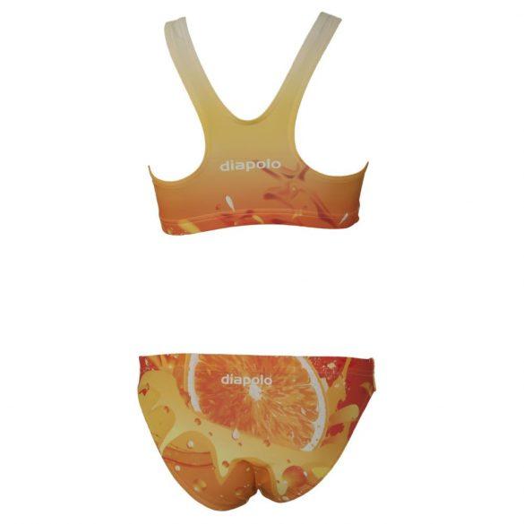 Vastag pántos bikini-Orange fruit