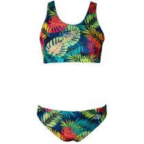Vastag pántos bikini felső - Tropical - 2