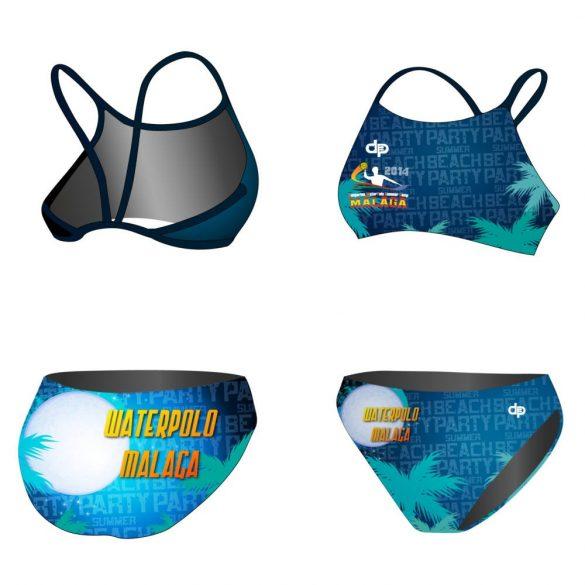HWPSC-Női vékony pántos bikini-Malaga night