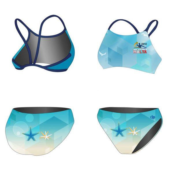 HWPSC-Női vékony pántos bikini-Malta sea star