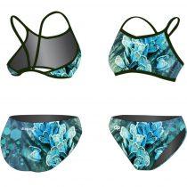 Vékony pántos bikini - Blue Butterfly
