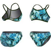 Vékony pántos bikini-Blue Butterfly