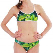 Vékony pántos bikini - Green Snake