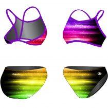 Vékony pántos bikini-Rainbow Lights