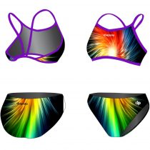 Vékony pántos bikini-Rainbow Fractal