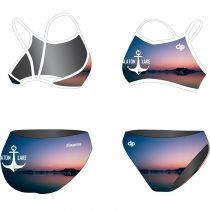 Vékony pántos bikini-Balaton Lake