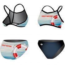 Vékony pántos bikini-Deep Water