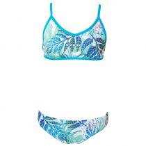 Női vékony pántos bikini - Leaves