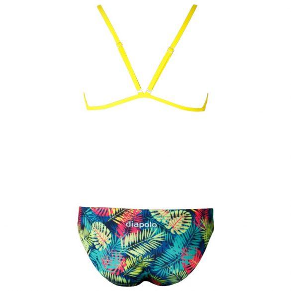 Női vékony pántos bikini-Tropical-2